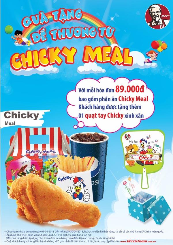 KFC tặng khách hàng mua phần ăn Chicky quạt xinh xắn
