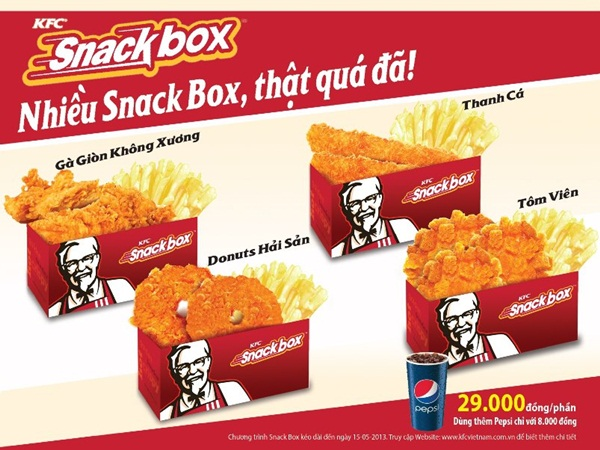 Snack box hoàn toàn mới tại KFC chỉ với 29.000đ
