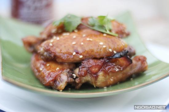Cánh gà nướng tương Hoisin và mật ong