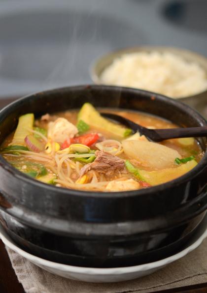 Canh thịt bò nấu củ cải