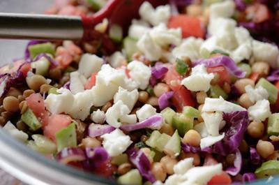 Salad đậu lăng vừa thanh mát vừa giảm cân